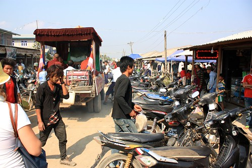 motorbike is the preferred method of transport around here