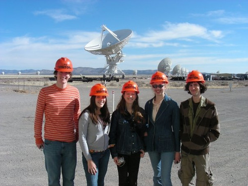 Korey Haynes with classmates at the Very Large Array