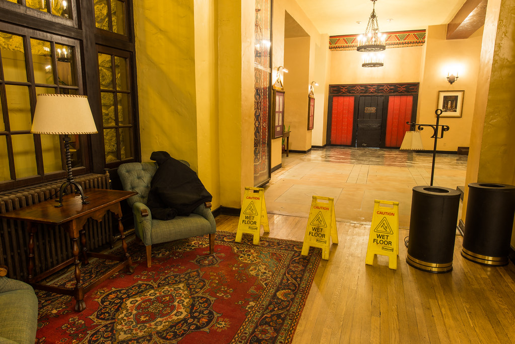 The Overlook Hotel Elevators, Wet Floor (The Ahwahnee Hotel, Yosemite National Park)