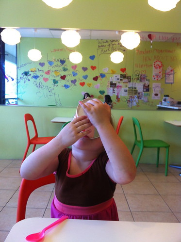 Cheyenne at a Frozen Yogurt Place