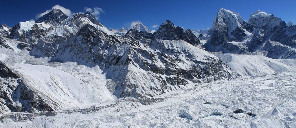 Ngozumba Glacier from Gokyo Ri