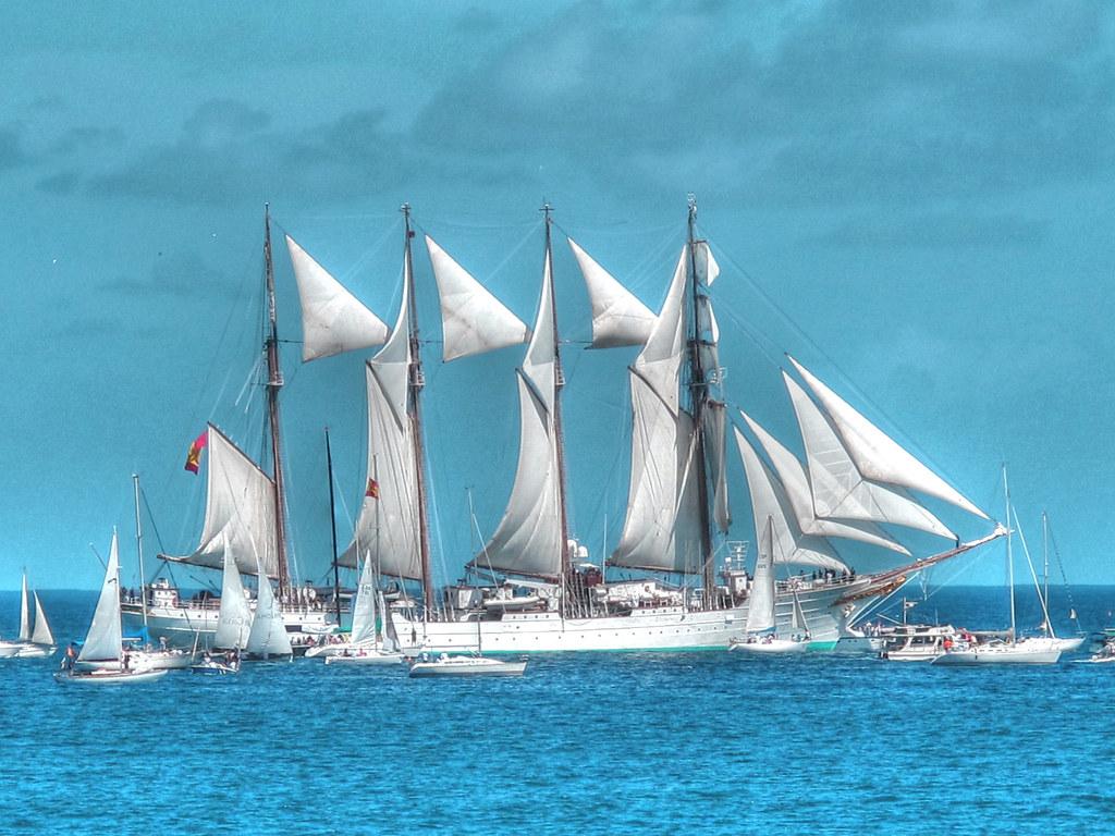 帆船と海画像