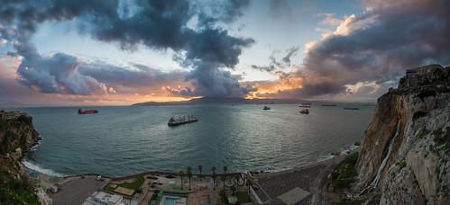 sunset sun clouds nikon rocks dusk wide coastline 16mm gibraltar quarry mediterraneansea rockofgibraltar d600 rosiabay markattardphotography