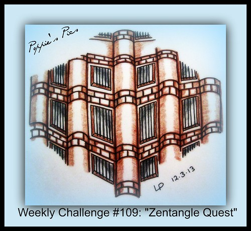 Weekly Challenge #109 b Zentangle Quest by Poppie_60