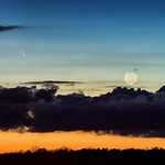 Comet Pan-STARRS (C/2011 L4) and the Moon