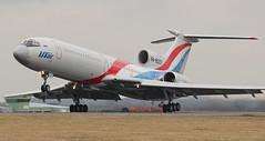 RA-85057. UTair Tupolev Tu-154M at Newcastle.