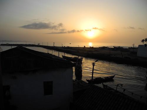 sunrise ghana westafrica capecoast elmina gulfofguinea