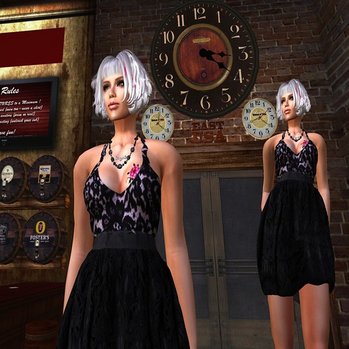 Paris METRO Couture_ Lace Candy Cocktail Dress - Noir