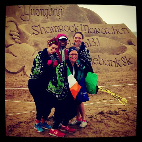Team Philly post Shamrock Half Marathon at Virginia Beach.