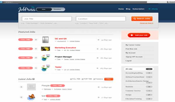 wordpress listing theme jobpress dailywp