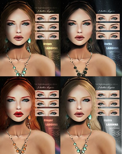 LaDonna eyebrow sets_@ SIS by ::Modish::