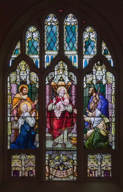 Saint Joseph Church, in Clayton, Missouri - stained glass window - 1