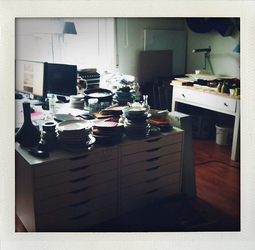 Welcome to the crazy chaos that was once my studio...bonus points if you find Mini ;)