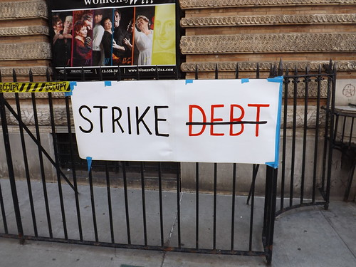 strike debt sign