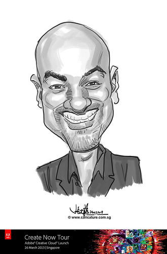 digital caricature for Adobe Create Now Tour - 1