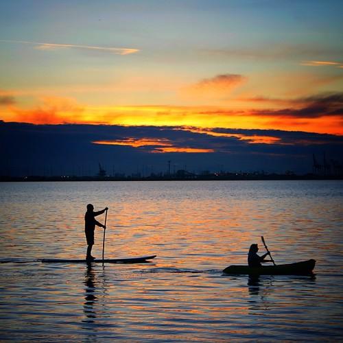 Perfect Evening for Paddling #StraitOfGeorgia #YesterEve #03252013 #DeltaBC