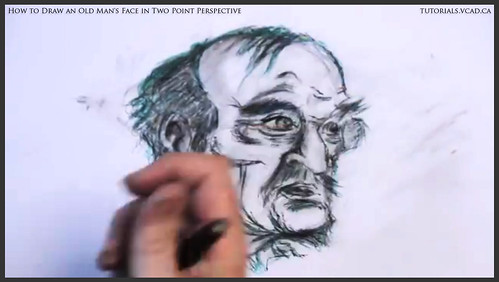 learn how to draw an old man's face in two point perspective 040