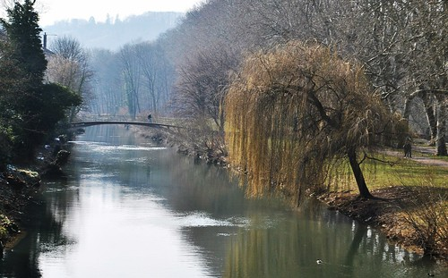 bridge nature river germany landscape
