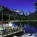 US Docks at South End of Upper Waterton Lake by woodchuckiam