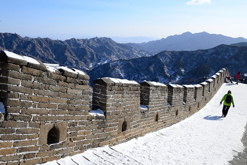 michael davis-burchat's photo of a snowy walk on the Great Wall.