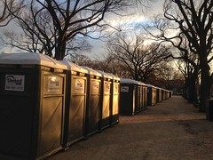 Spectacular skies on a Monday morning commute. Even the inaugural port-a-potties had a majestic look about them.