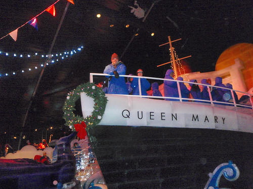 Ice Queen Mary in line for the ice slide