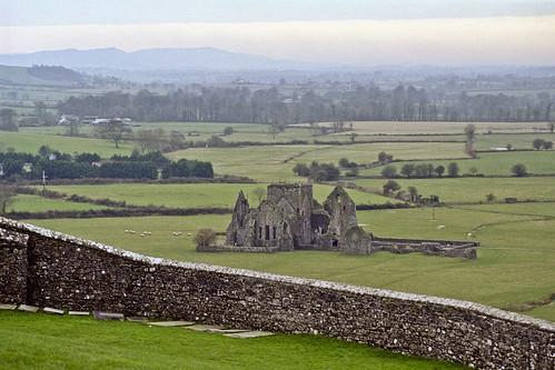 ireland mist green castle misty fog stone ruins foggy blarney