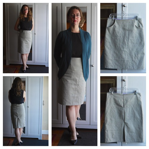 Grey Pocket Skirt