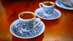 cup(1.0), tea(1.0), coffee(1.0), coffee cup(1.0), turkish coffee(1.0), drink(1.0), caffeine(1.0),
