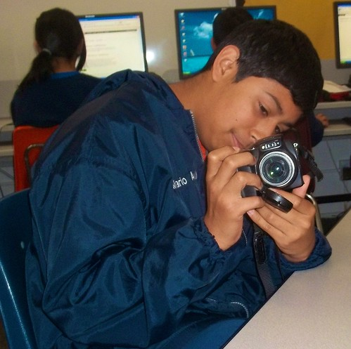 Photography lessons during Electives Week at the Nativity School