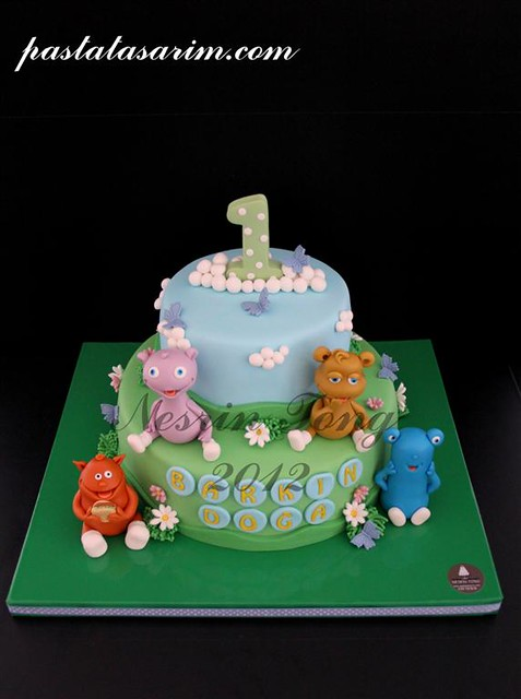the cuddlies cake - barkın doğa 1st.birthday (Medium)