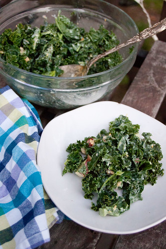 Meyer Lemon Kale Salad with Apples