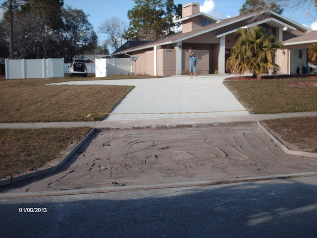 remove replace concrete driveway apron flickr photo