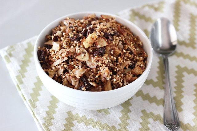 Maple Cinnamon Crunch Quinoa Granola - Gluten-free + Vegan