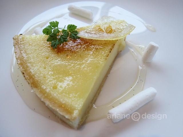 ORU lemon tart at Fairmont Pacific Rim