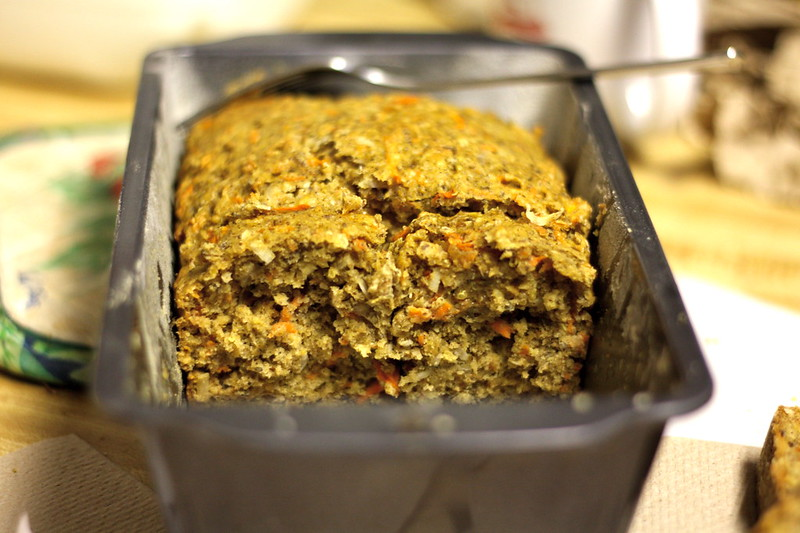 quinoa carrot loaf