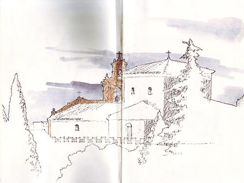 Dibujando en la Cuesta de San Cayetano