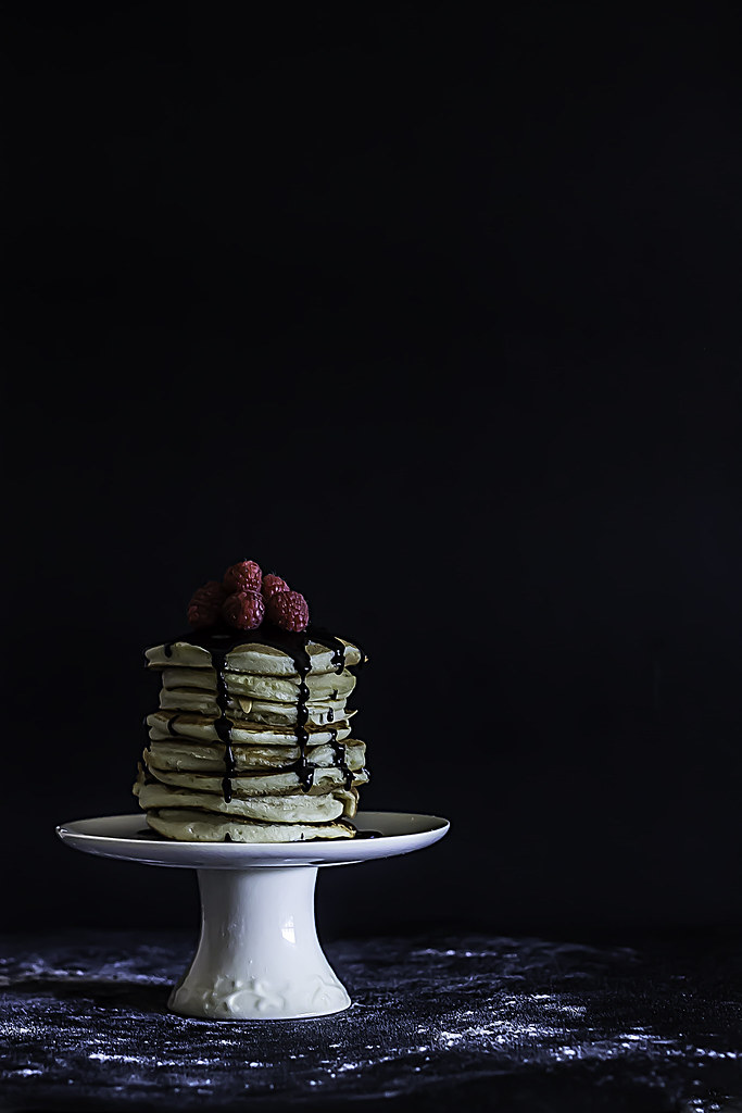 Sunday Pancakes With Chocolate Sauce