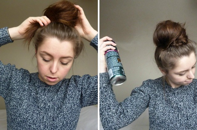 How to do a messy topknot