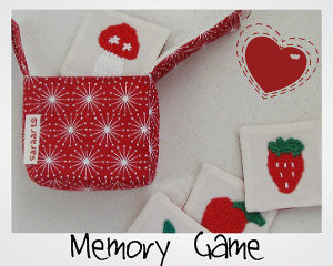 Memory Game with red handy case