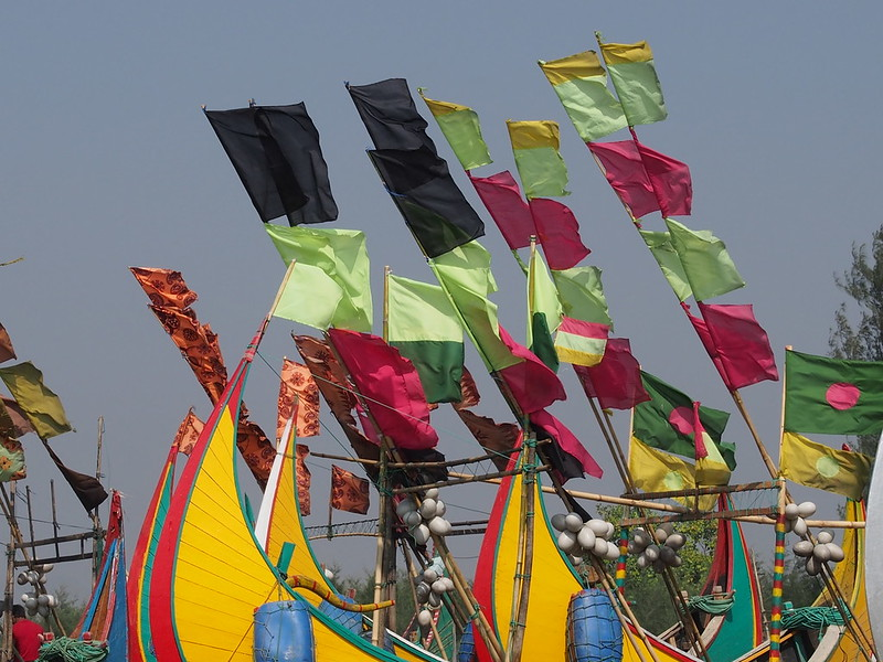 Colorful Flags of Fisherman's Boats