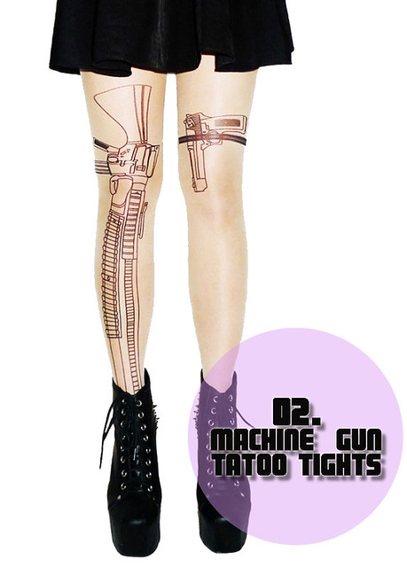 Machine Gun Tattoo Tights