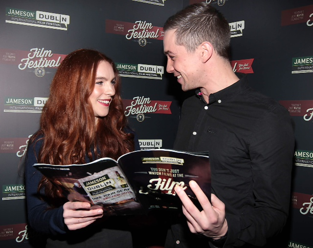 JDIFF Photo Call 2013 Kelly Campbell & Killian Scott