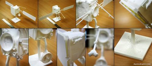 3D printed Solar Orbiter spacecraft