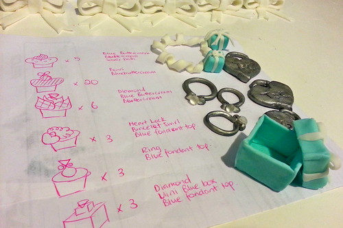 Tiffanys & Co Birthday Cupcakes the making of