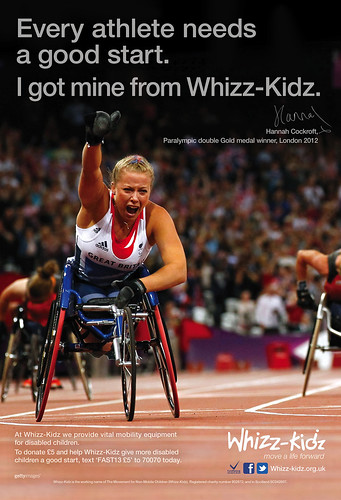 Whizz-Kidz poster featuring Hannah Cockroft