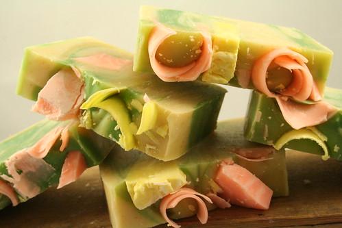 coconut citrus sorbet handmade soap 021