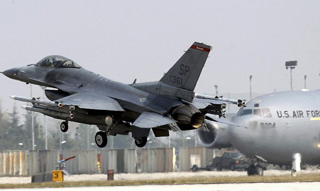 F-16 fighter jets are being delivered by the United States to Egypt. Despite the removal of Mubarak from power in 2011, close ties between Washington and Cairo continues. by Pan-African News Wire File Photos
