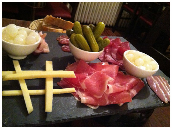 Assortment of cold cuts, cheese and pickles, Chateau d'If - Vésenaz, Geneva