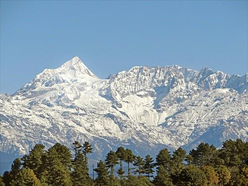 montagne day clear himalaya népal nagarkot dalbera valléedekatmandou ganchenpo